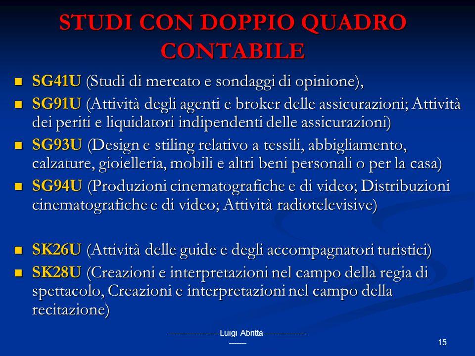 STUDI CON DOPPIO QUADRO CONTABILE