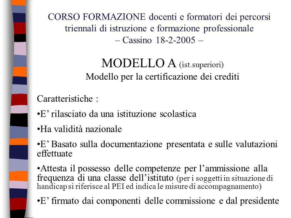 MODELLO A (ist.superiori)