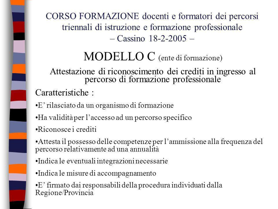 MODELLO C (ente di formazione)