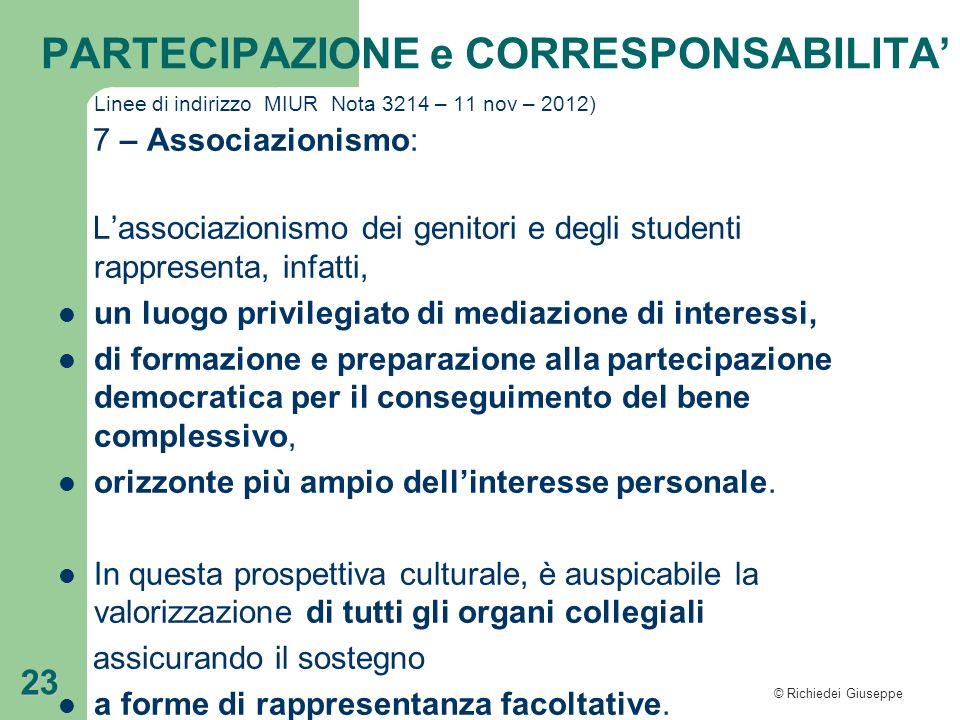 L'associazionismo dei genitori e degli studenti rappresenta, infatti,