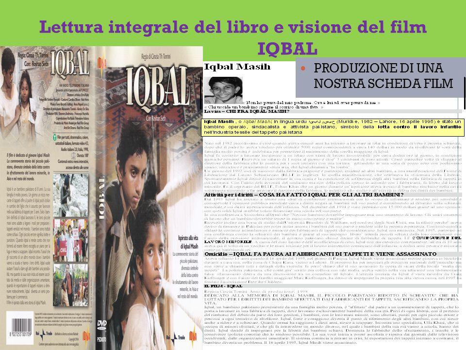 Lettura integrale del libro e visione del film IQBAL