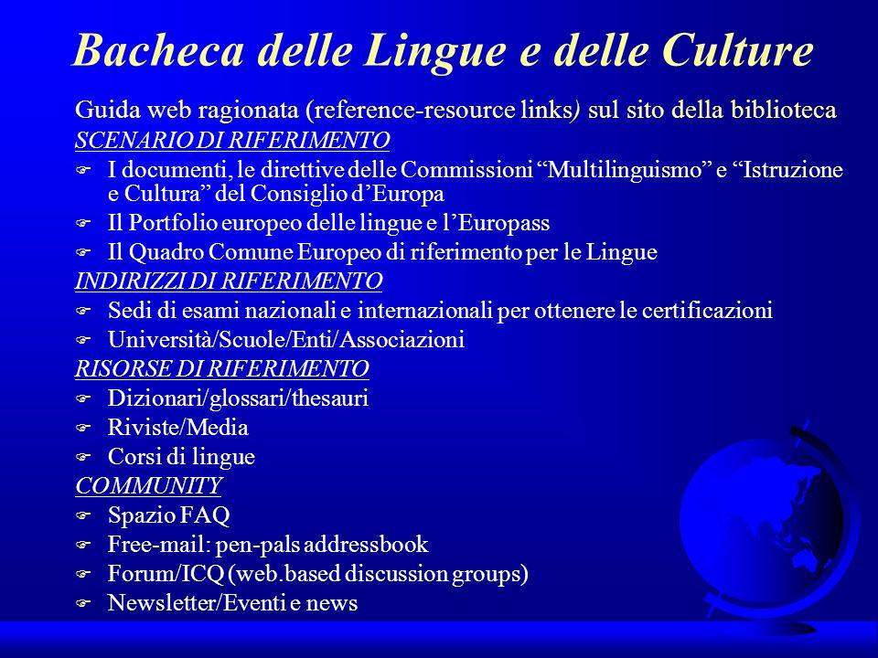 Bacheca delle Lingue e delle Culture