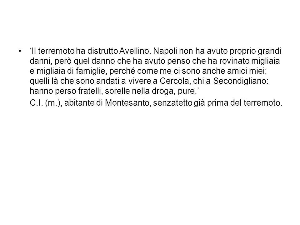 'Il terremoto ha distrutto Avellino