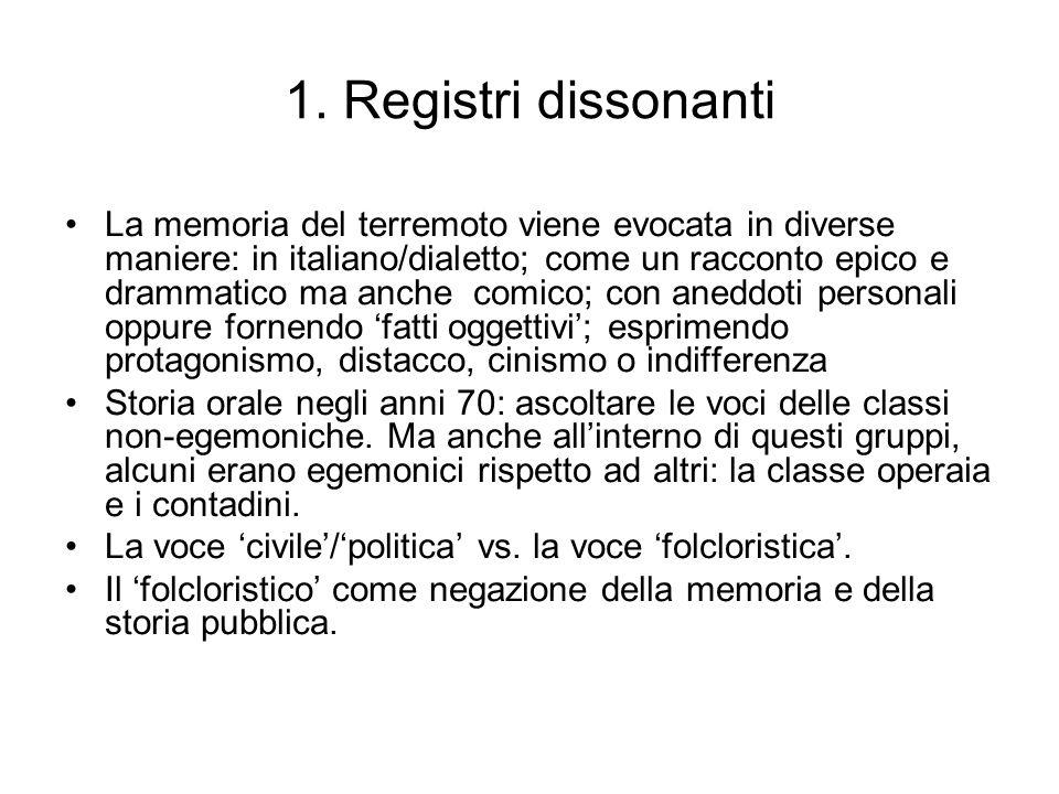 1. Registri dissonanti