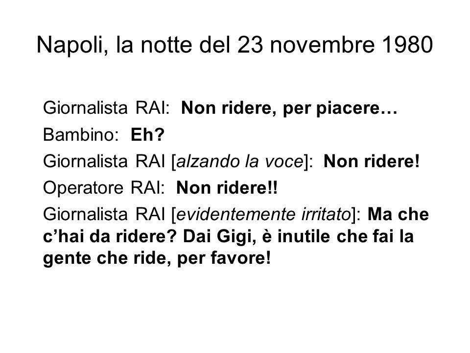 Napoli, la notte del 23 novembre 1980