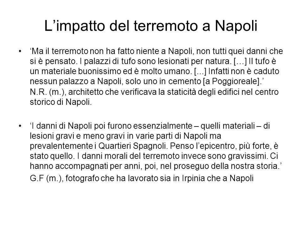 L'impatto del terremoto a Napoli
