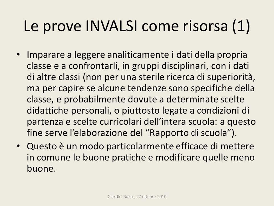 Le prove INVALSI come risorsa (1)