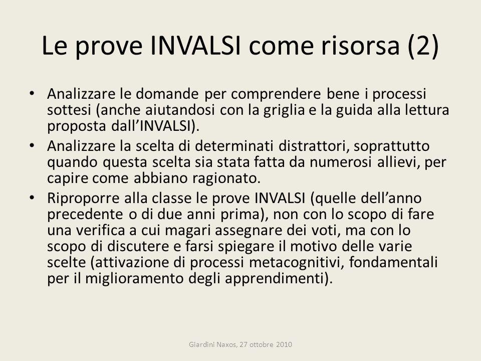 Le prove INVALSI come risorsa (2)