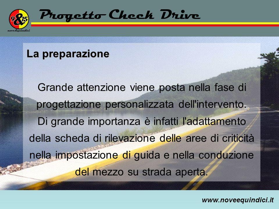 Progetto Check Drive La preparazione