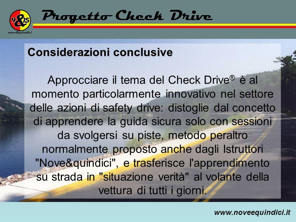 Progetto Check Drive Considerazioni conclusive