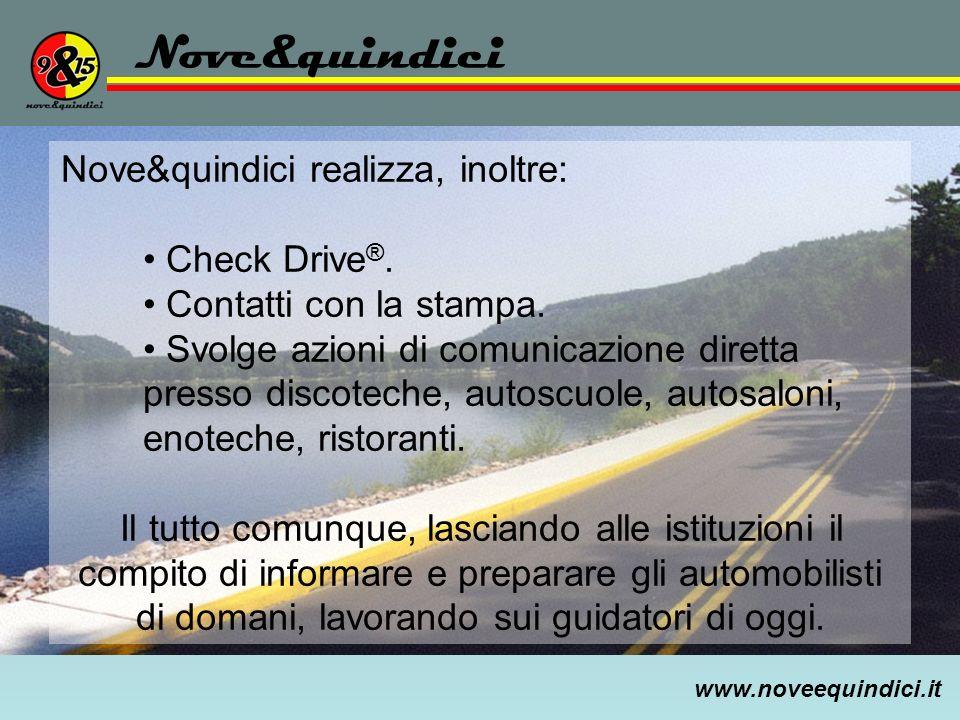 Nove&quindici Nove&quindici realizza, inoltre: Check Drive®.