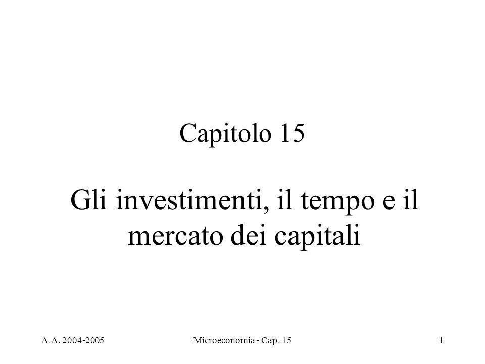 Gli investimenti, il tempo e il mercato dei capitali