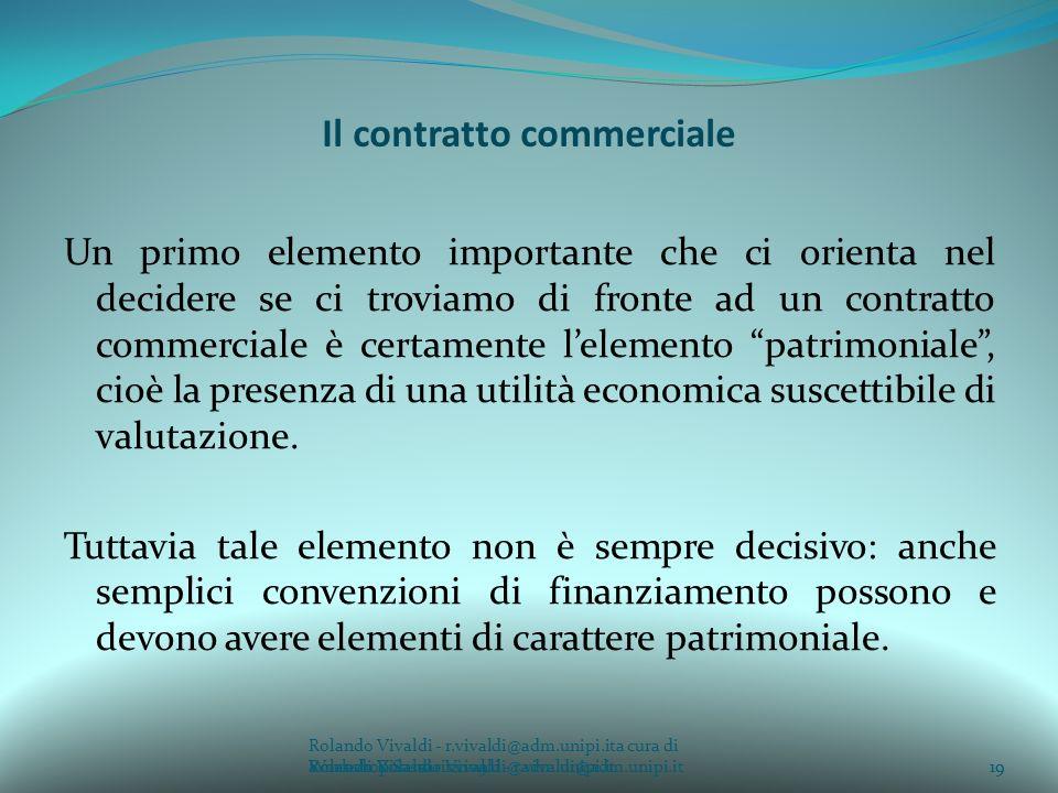 Il contratto commerciale