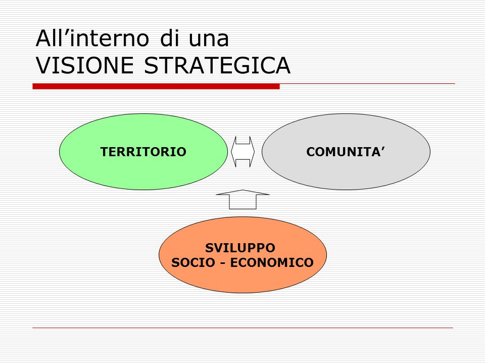 All'interno di una VISIONE STRATEGICA