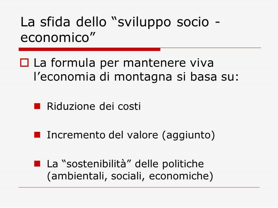 La sfida dello sviluppo socio - economico