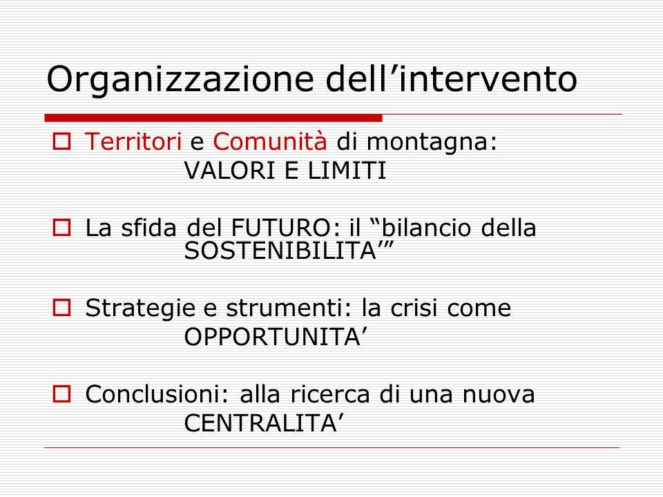 Organizzazione dell'intervento
