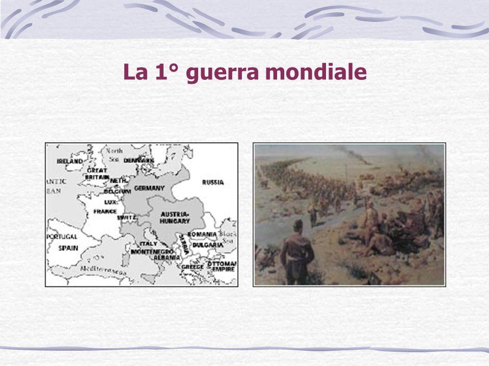 La 1° guerra mondiale