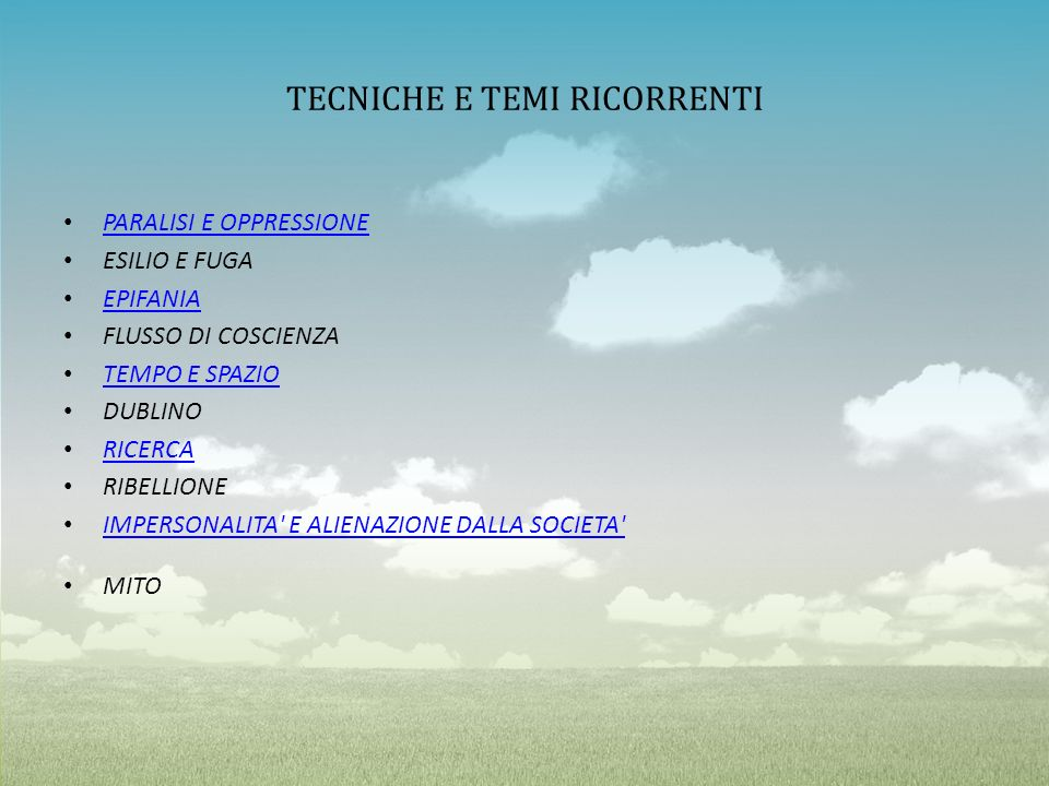 TECNICHE E TEMI RICORRENTI
