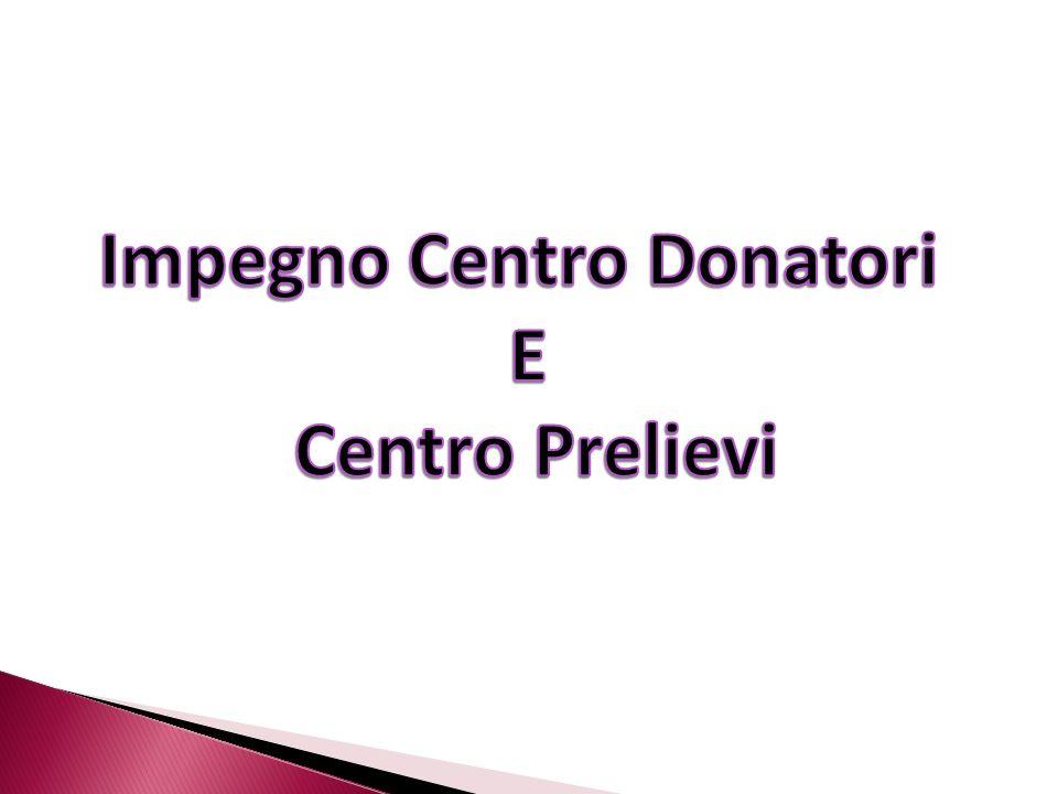Impegno Centro Donatori