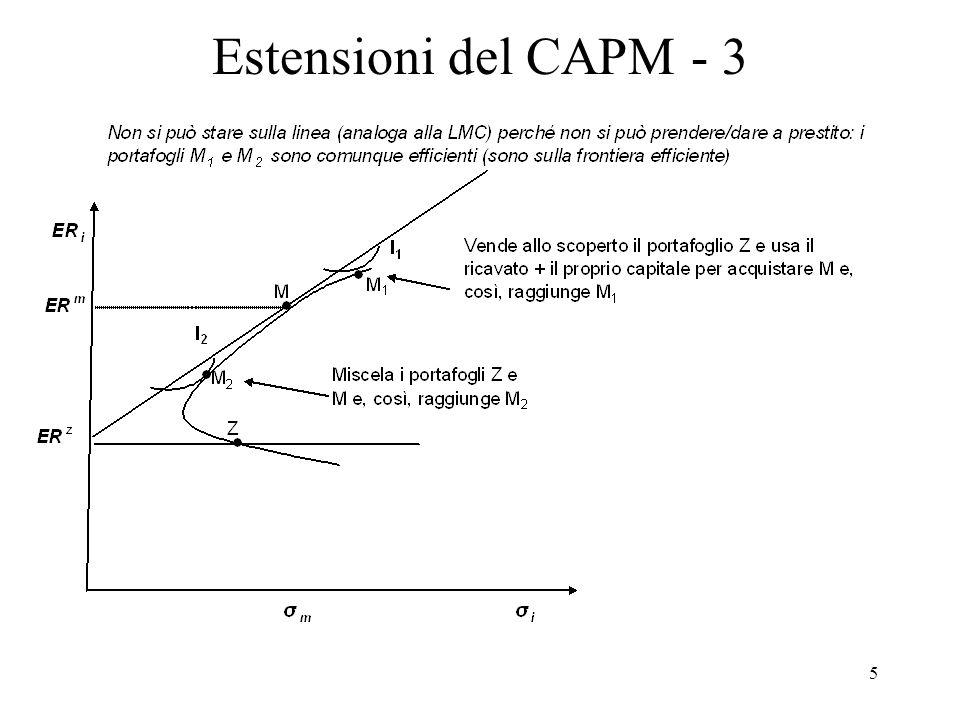 Estensioni del CAPM - 3
