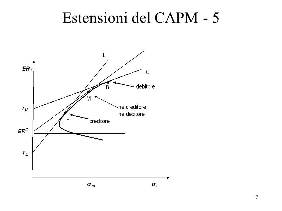 Estensioni del CAPM - 5