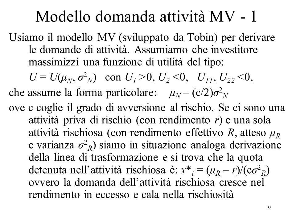 Modello domanda attività MV - 1