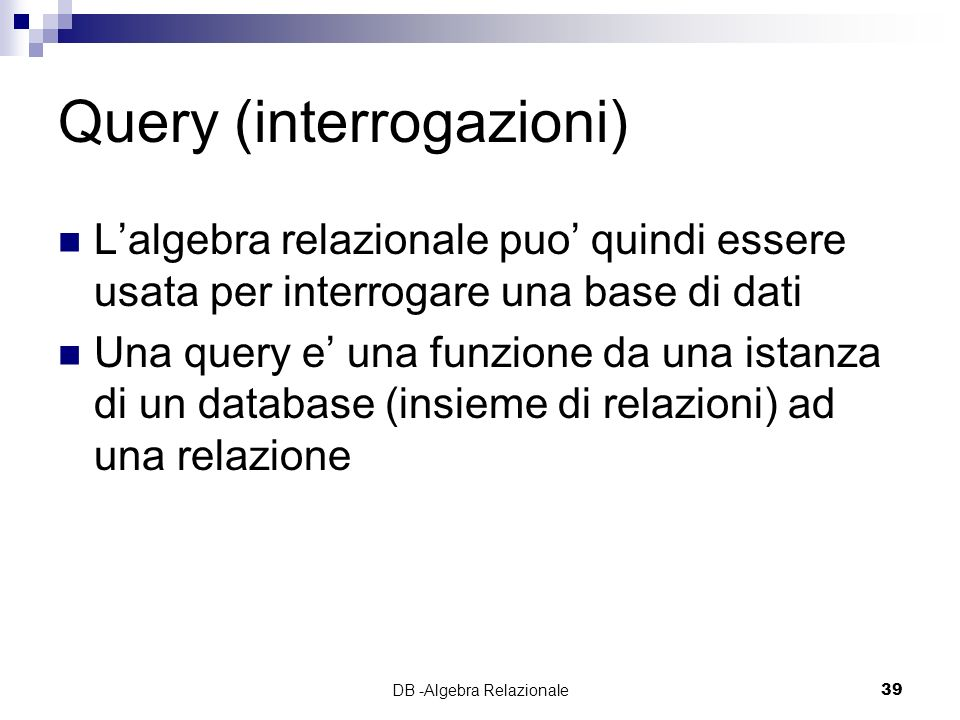 Query (interrogazioni)