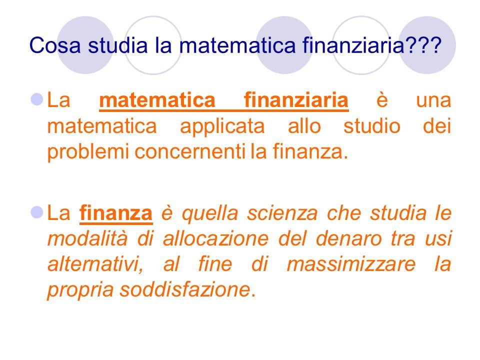 Cosa studia la matematica finanziaria