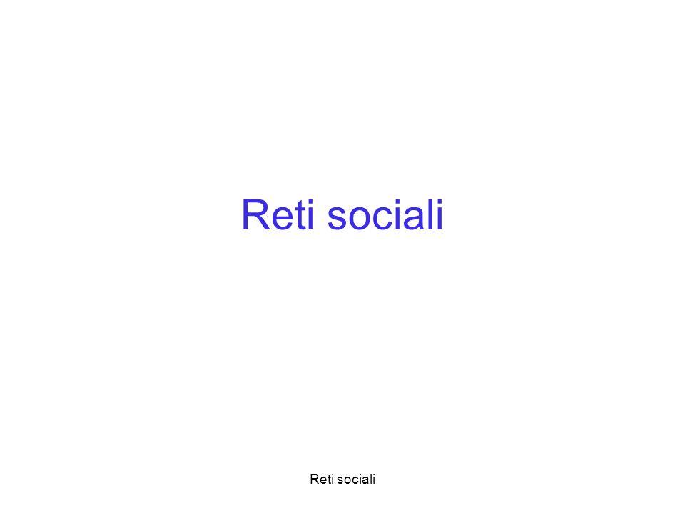 Reti sociali Reti sociali