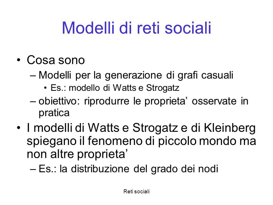 Modelli di reti sociali