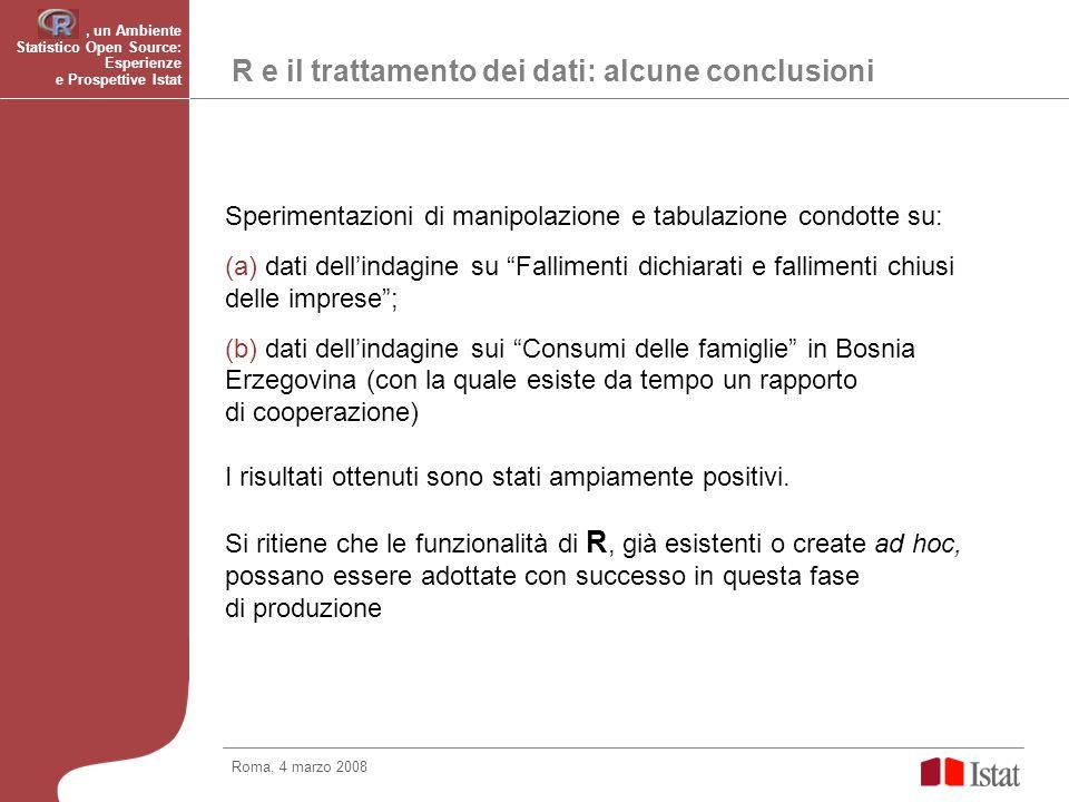 R e il trattamento dei dati: alcune conclusioni