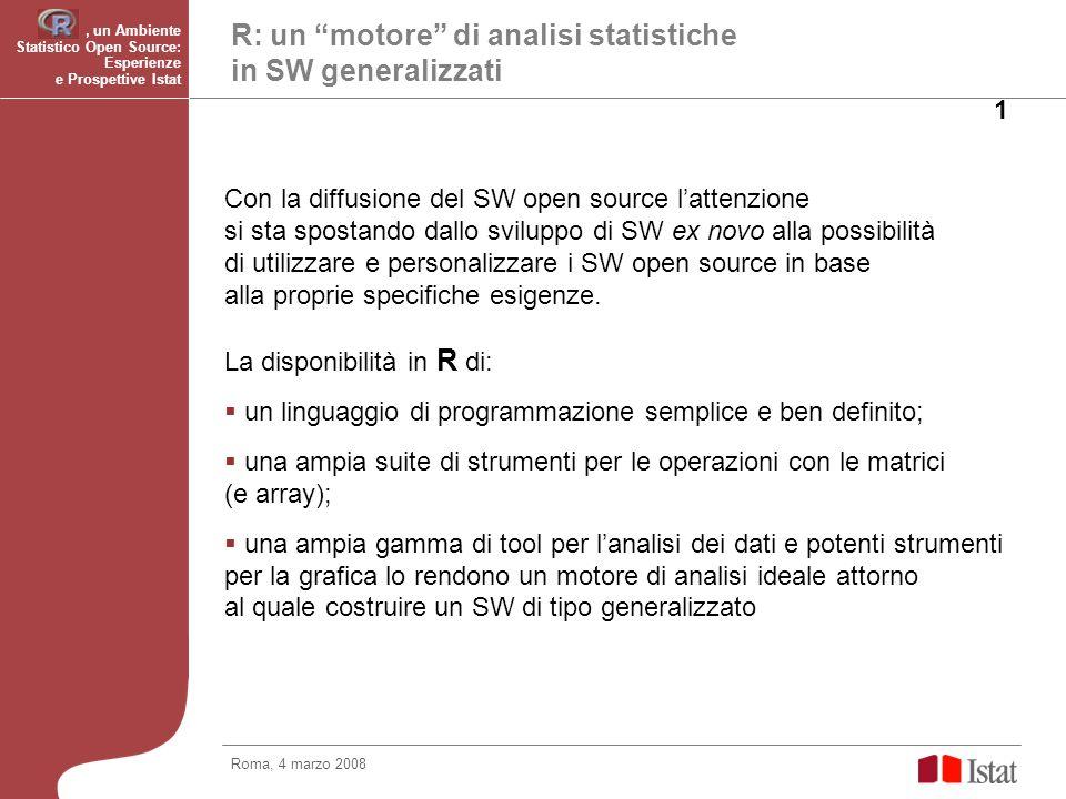 R: un motore di analisi statistiche in SW generalizzati