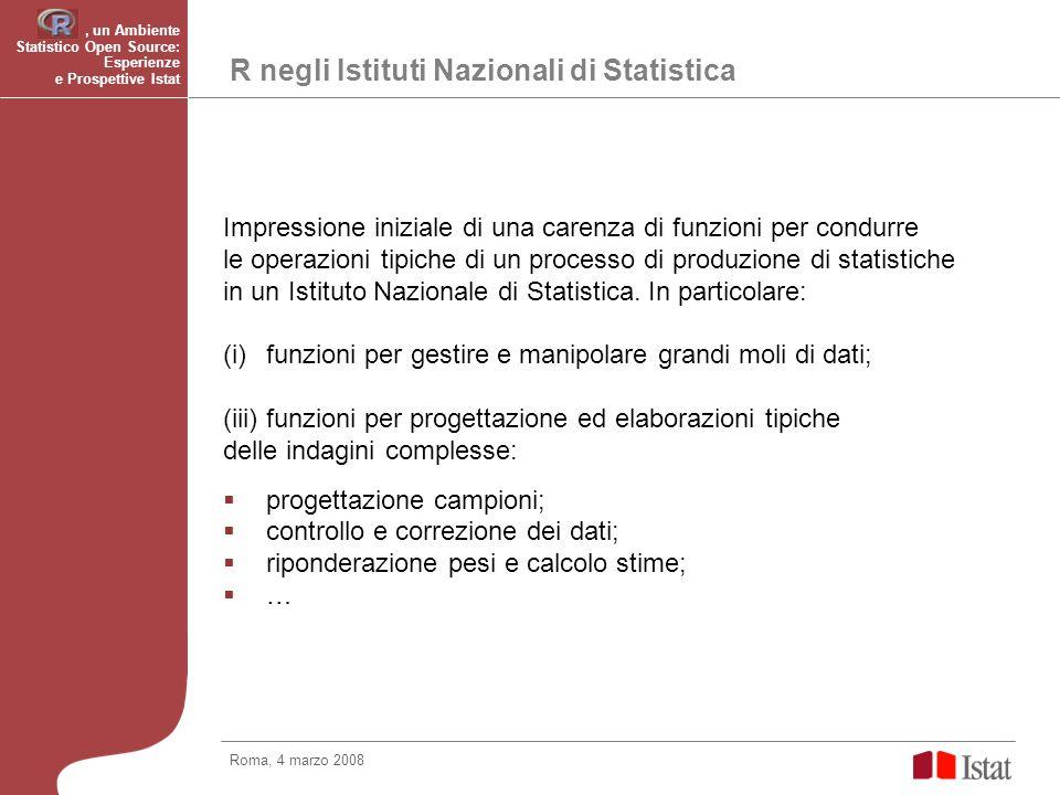 R negli Istituti Nazionali di Statistica