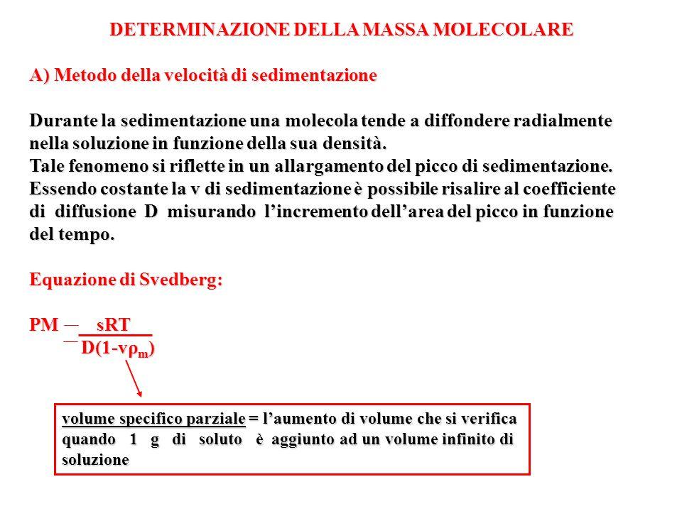DETERMINAZIONE DELLA MASSA MOLECOLARE