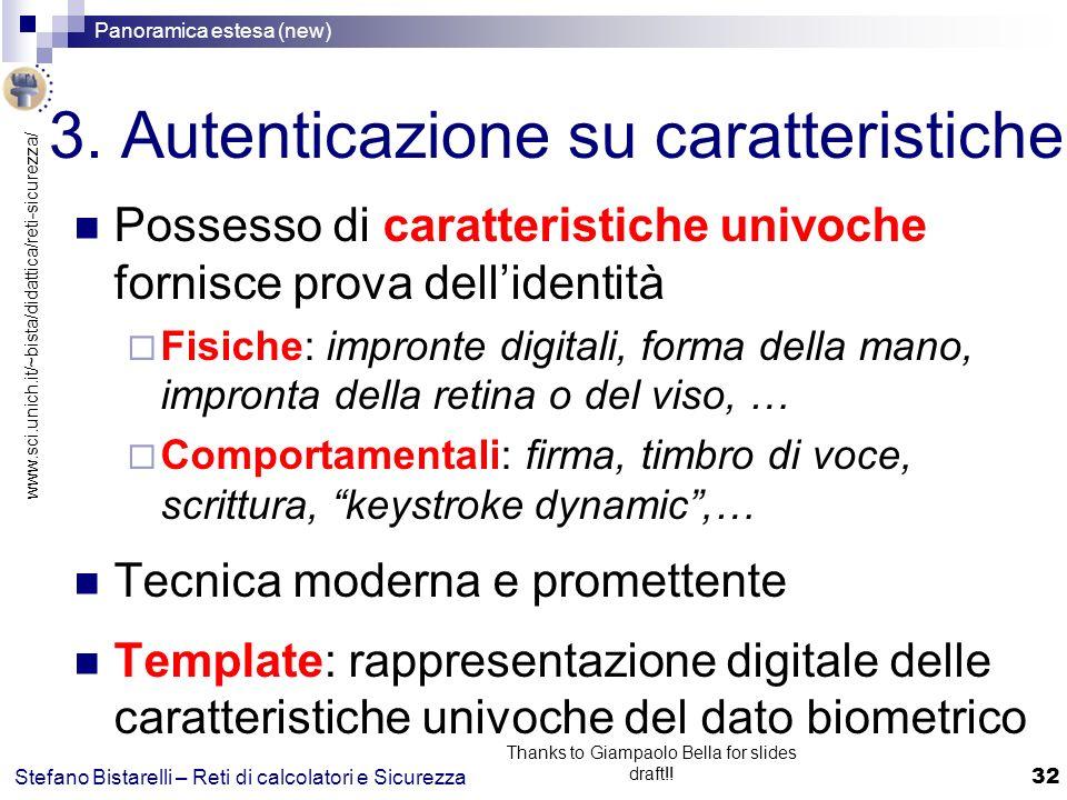 3. Autenticazione su caratteristiche