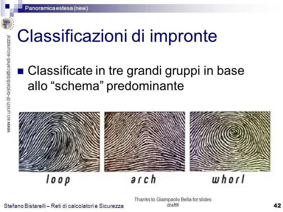 Classificazioni di impronte