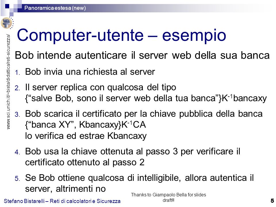 Computer-utente – esempio