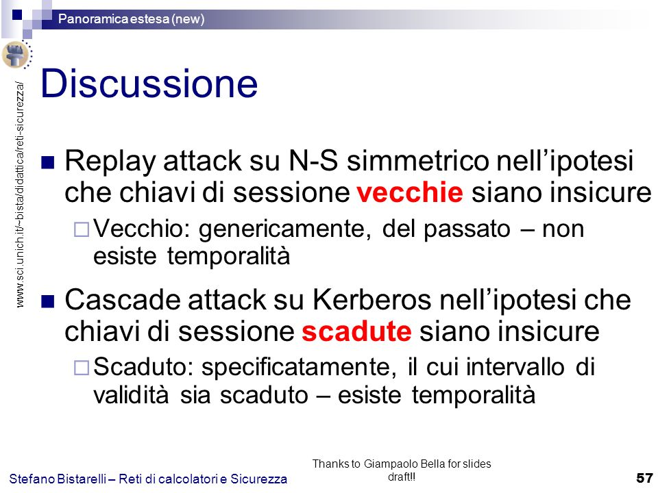 Thanks to Giampaolo Bella for slides draft!!