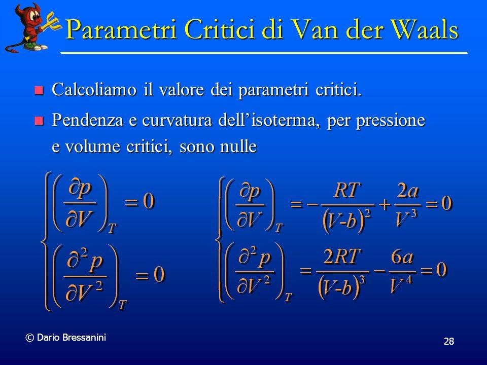 Parametri Critici di Van der Waals