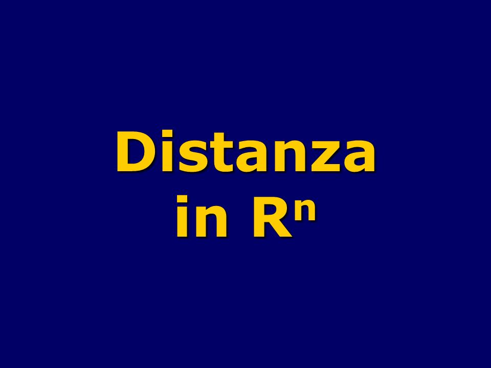 Distanza in Rn