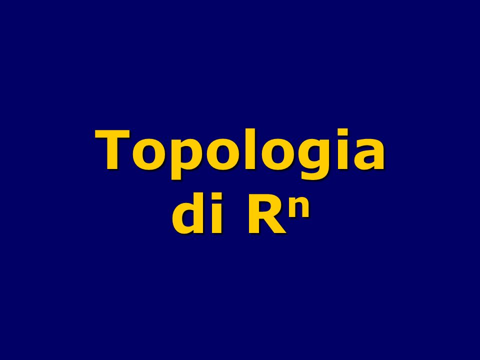 Topologia di Rn