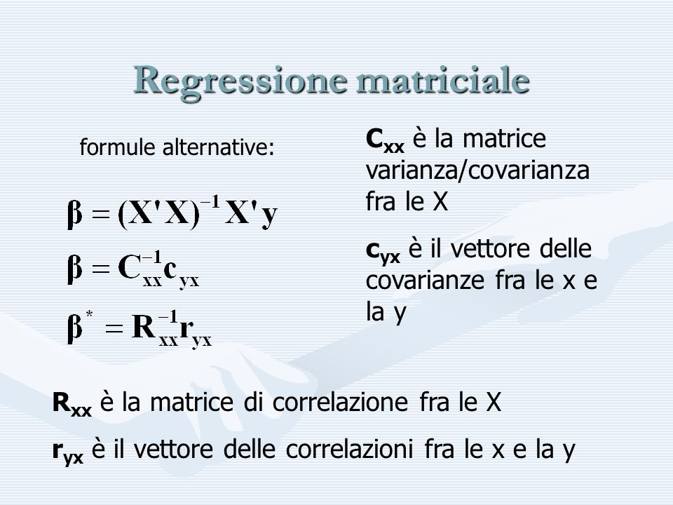 Regressione matriciale