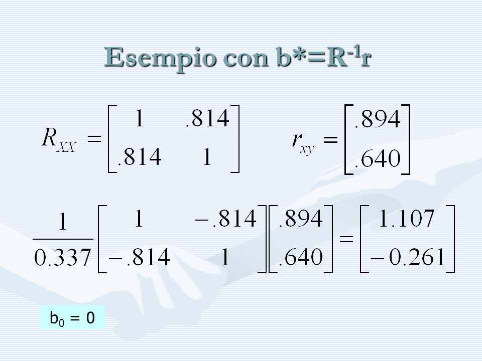 Esempio con b*=R-1r b0 = 0