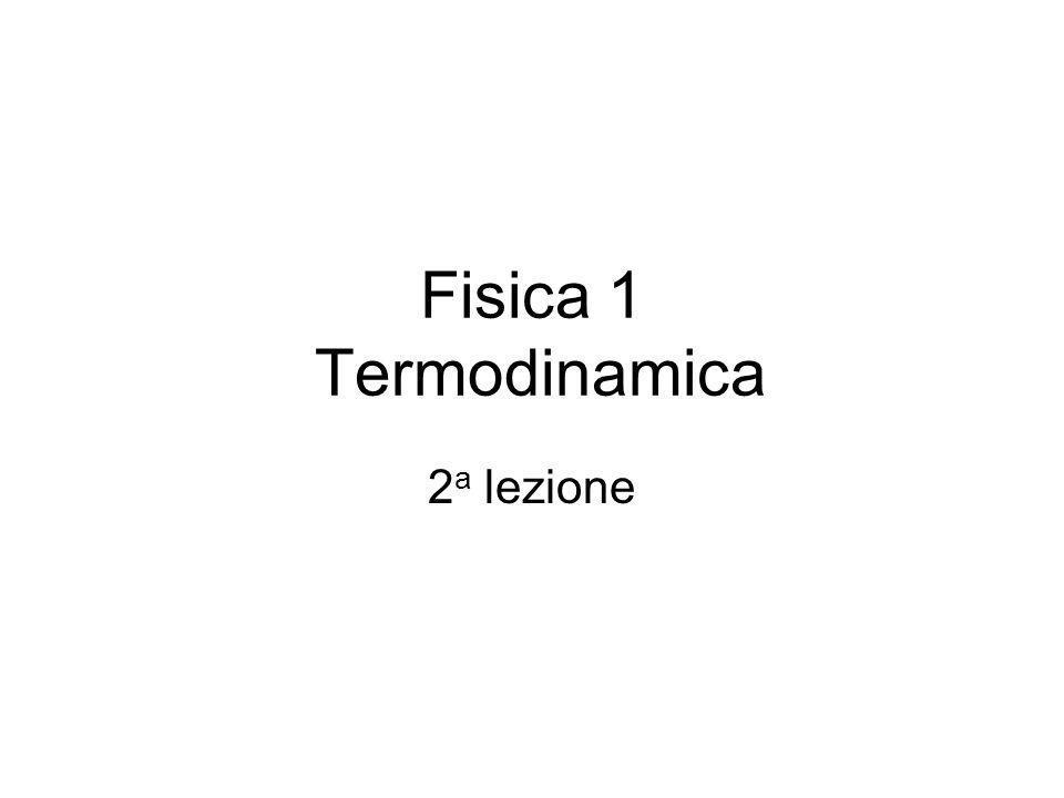 Fisica 1 Termodinamica 2a lezione