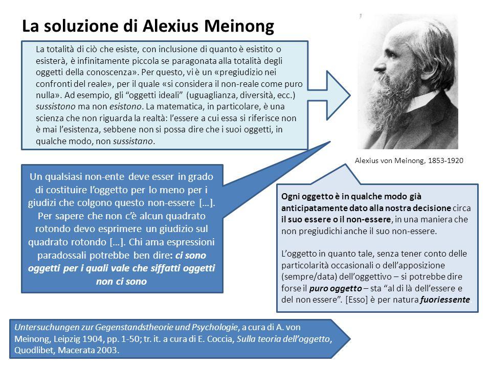 La soluzione di Alexius Meinong