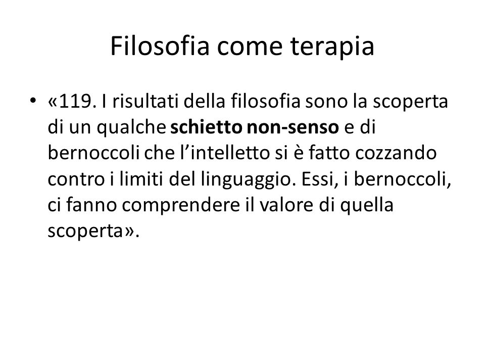 Filosofia come terapia