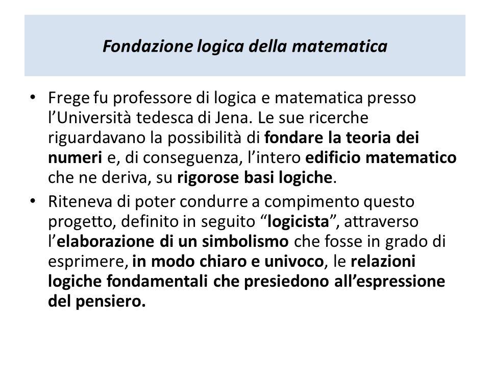 Fondazione logica della matematica