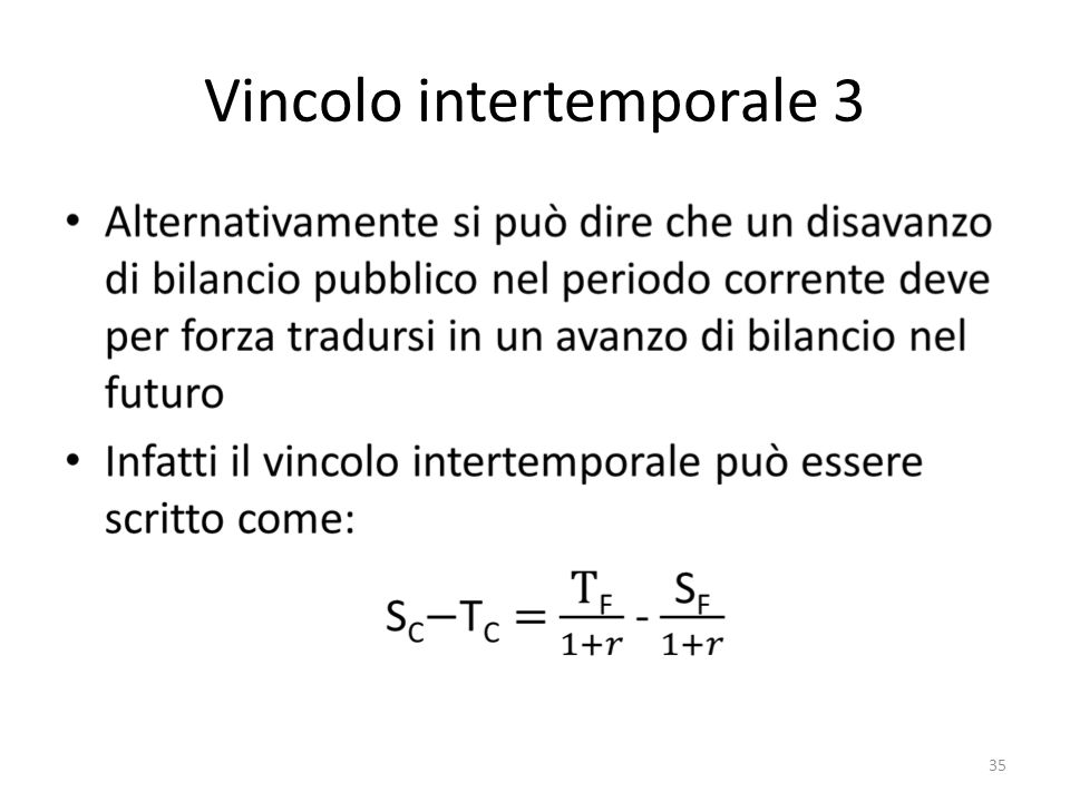 Vincolo intertemporale 3