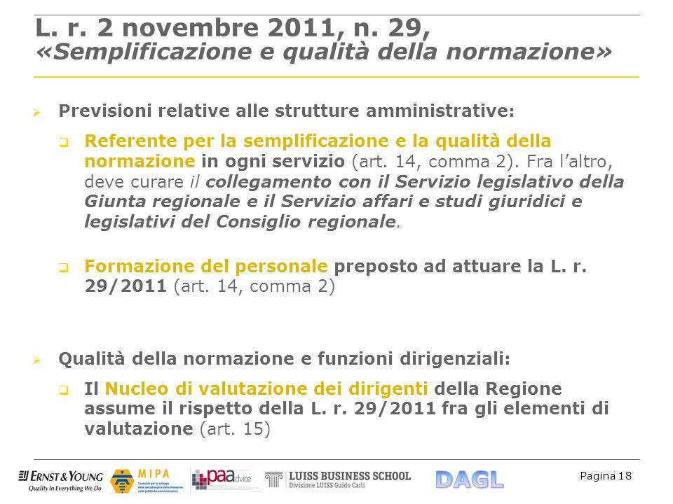 L. r. 2 novembre 2011, n. 29, «Semplificazione e qualità della normazione»