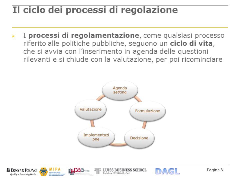Il ciclo dei processi di regolazione